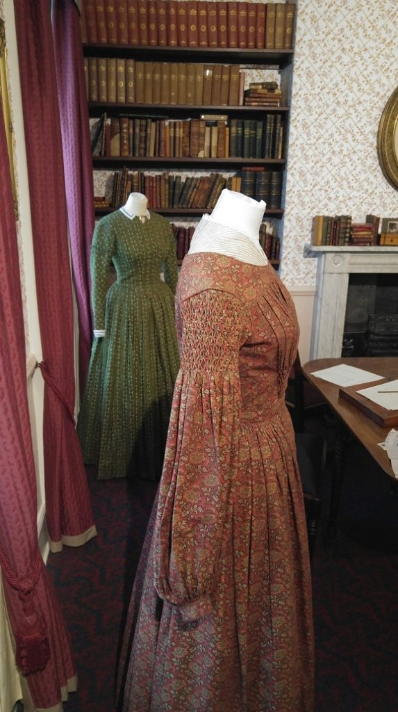 The dresses of Anne and Emily Bronte from To Walk Invisible