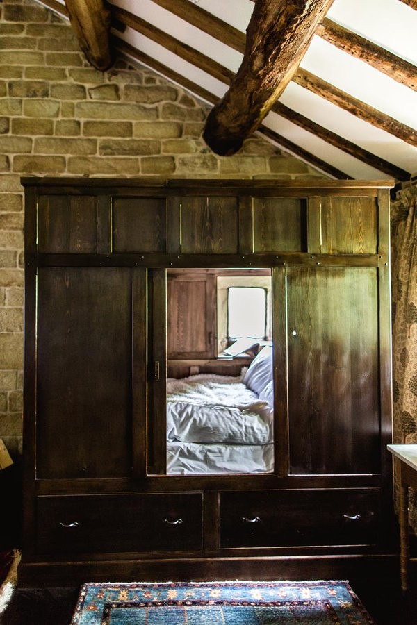The box bed at Ponden Hall