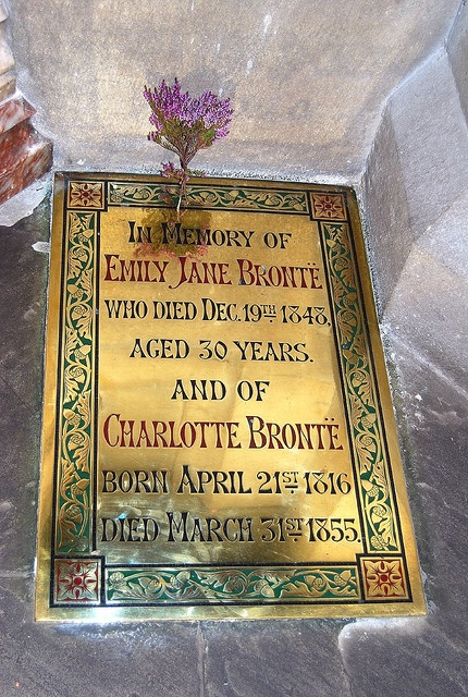 Bronte burial plaque