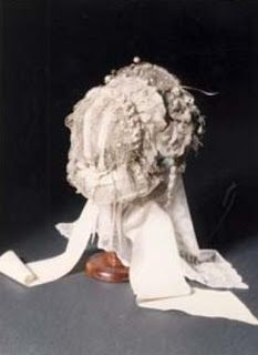 Charlotte Bronte's wedding bonnet