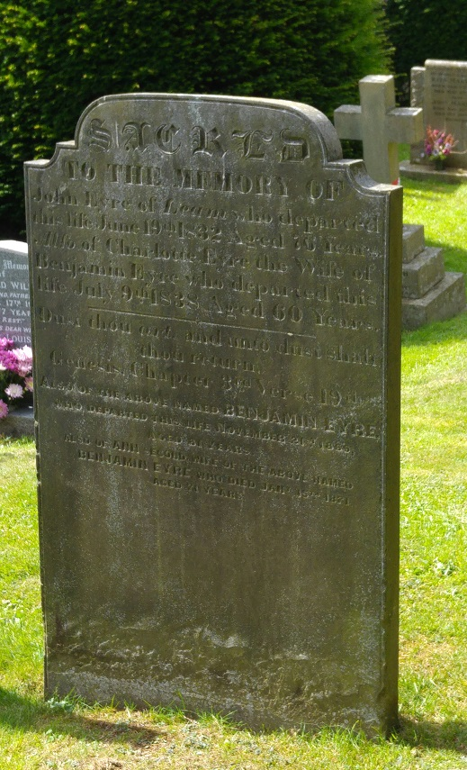 Eyre family grave, Hathersage