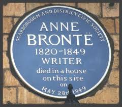 Anne Bronte plaque at the Grand Hotel, Scarborough