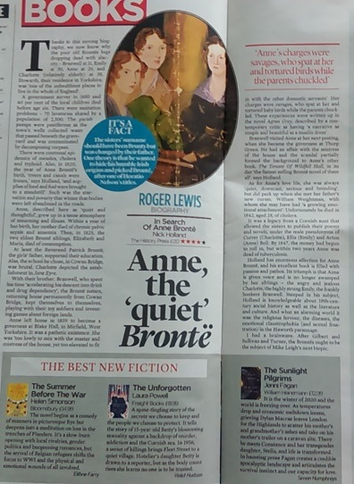 In Search Of Anne Bronte review, Mail On Sunday