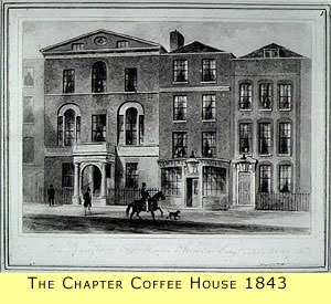 The Chapter Coffee House in 1843