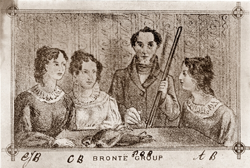 Branwell Bronte gun group engraving