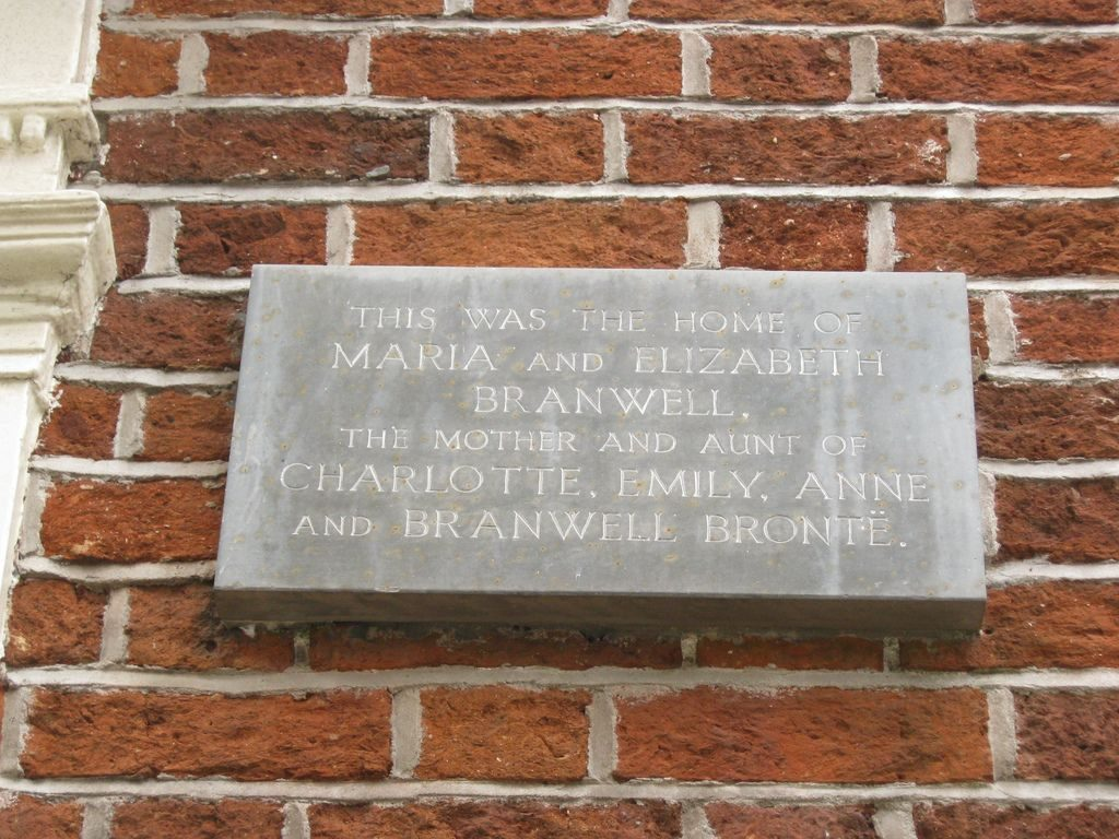 A tribute to Maria Bronte and Aunt Branwell by their family home in Penzance