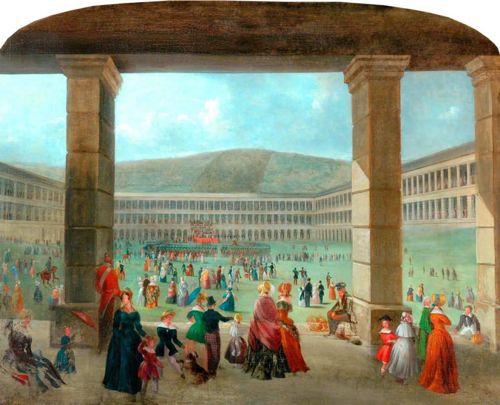 Halifax Piece Hall at the time of the Brontes, but John Wilson Anderson