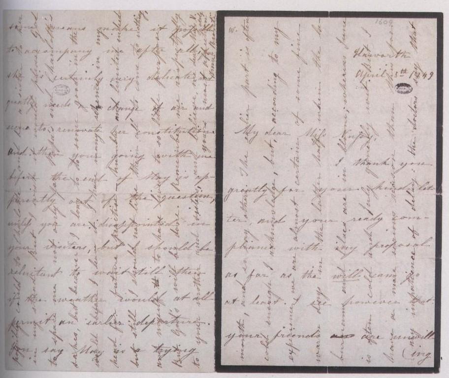 Anne Brontë letter