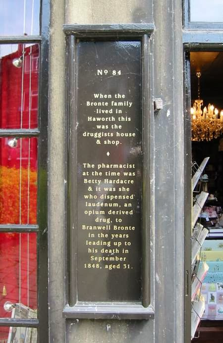 Branwell Bronte apothecary