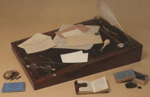 Charlotte Bronte's writing desk