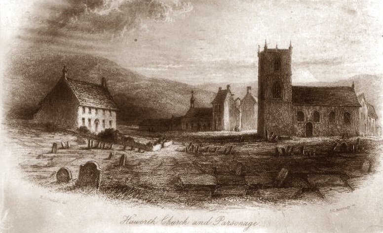 Haworth church at the time of the Brontes