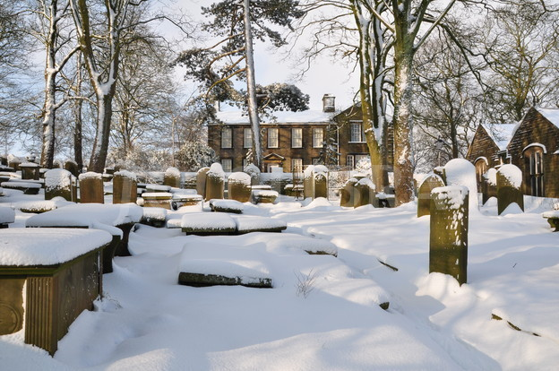 Haworth Parsonage snow