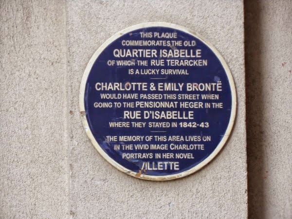 Bronte plaque in Brussels