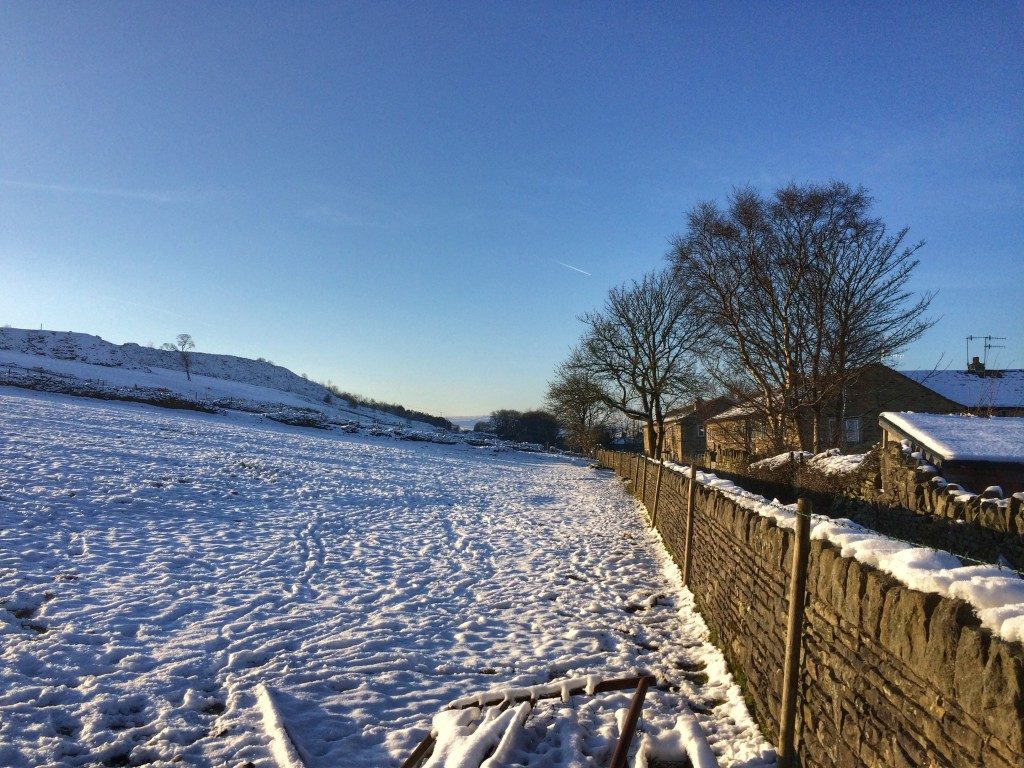 Haworth moors snow