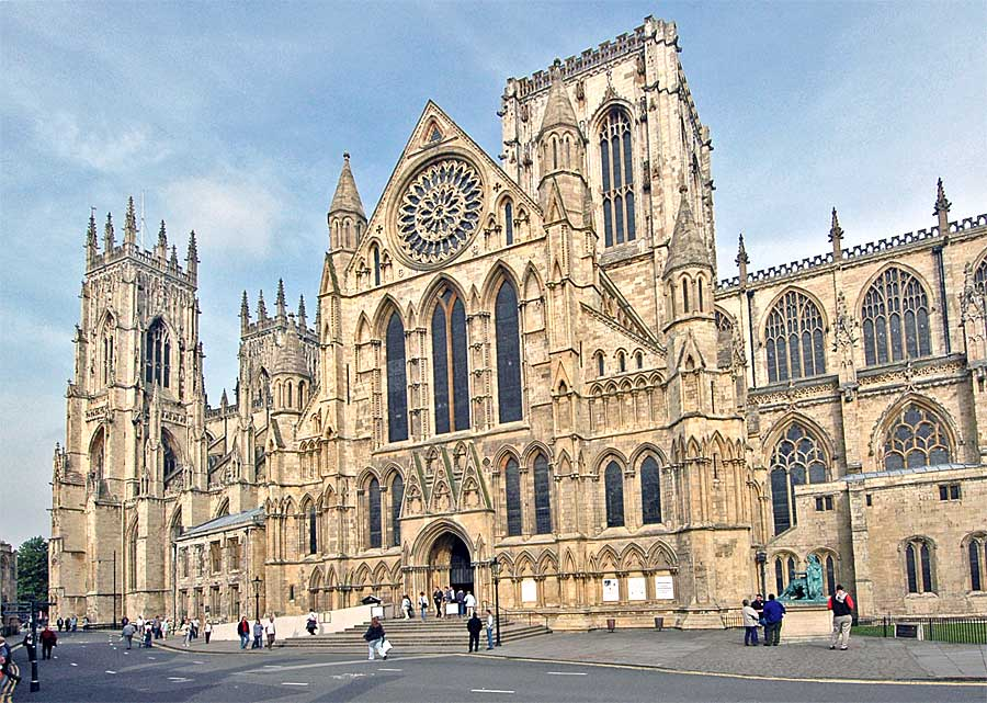 The huge, imposing York Minster