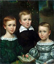 Emilia, Austin and Lavinia Dickinson in 1840