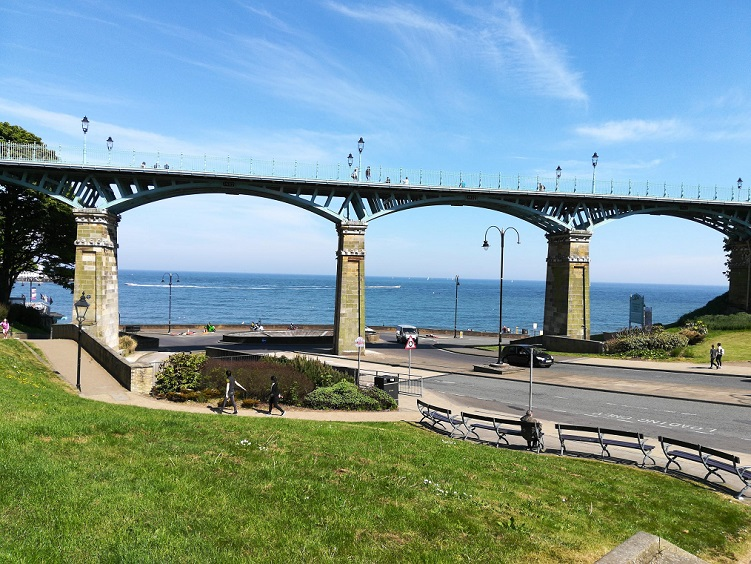 The Spa Bridge, Scarborough walked by Anne Bronte in 1849
