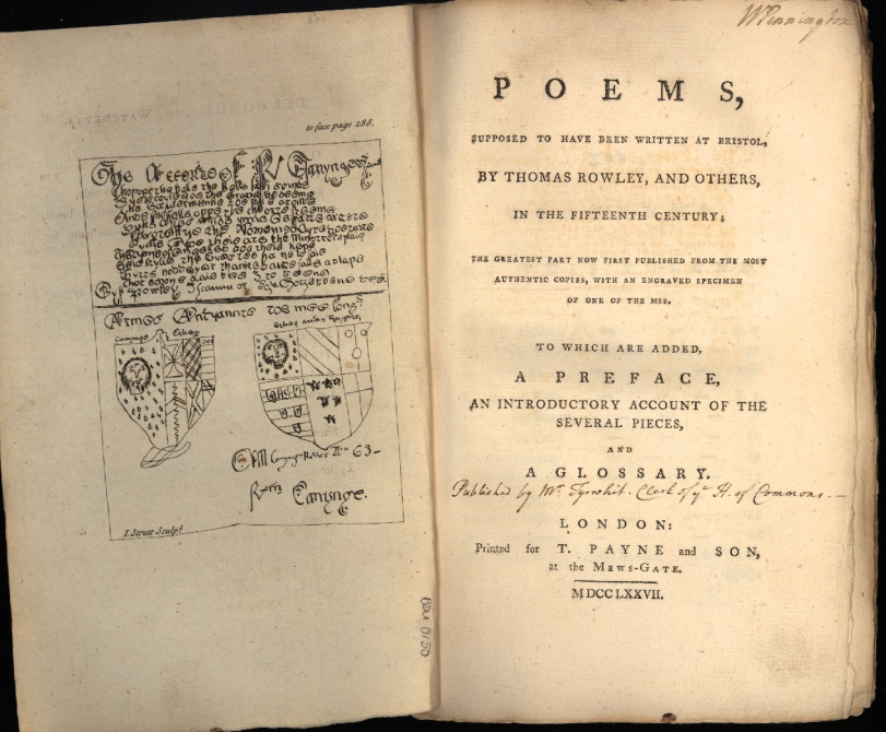 Poems by Thomas Rowley