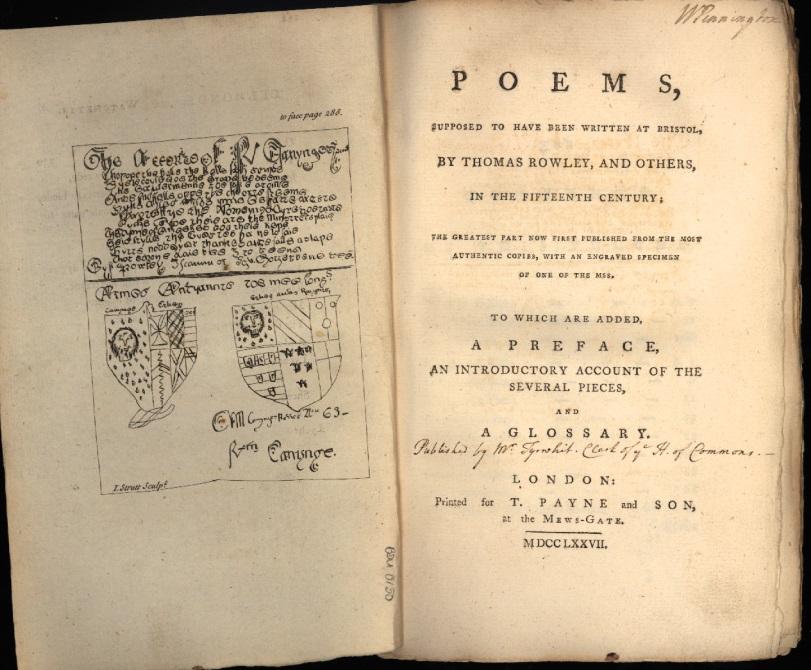 Poems by Thomas Rowley