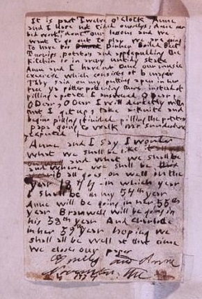 1834 diary paper