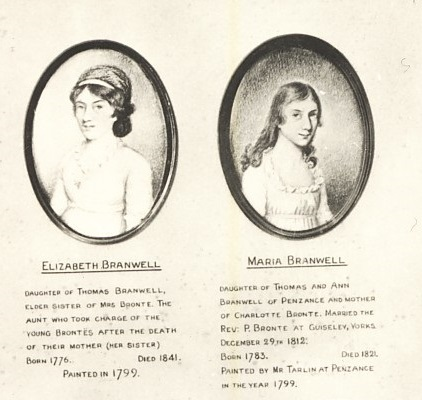 Elizabeth and Maria Branwell, painted in 1799