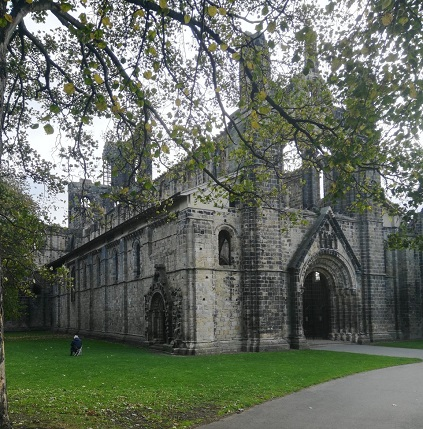 Kirkstall Abbey from the entrance