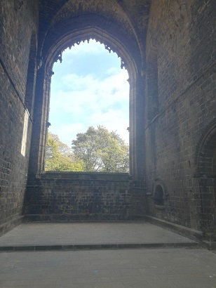 Kirkstall Abbey window view