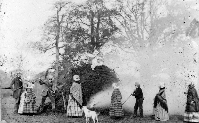 Victorian bonfire