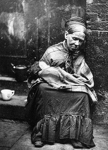 Workhouse mother and baby