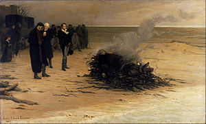 The Funeral of Shelley by Louis Fournier