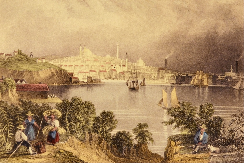 View of Baltimore by William H. Bartlett