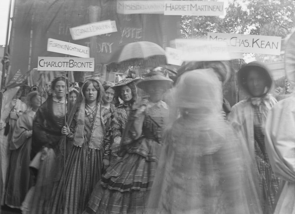 Charlotte Bronte suffragette banner