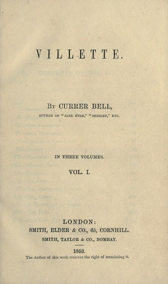 Villette frontispiece