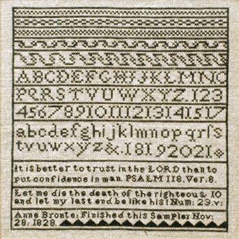Anne Bronte's sampler