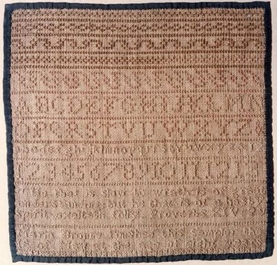 Maria Bronte's needlework sampler