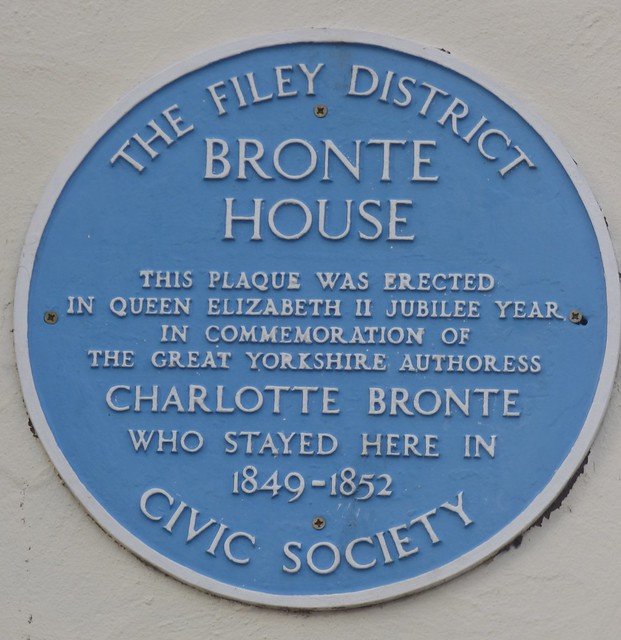 Filey Bronte plaque