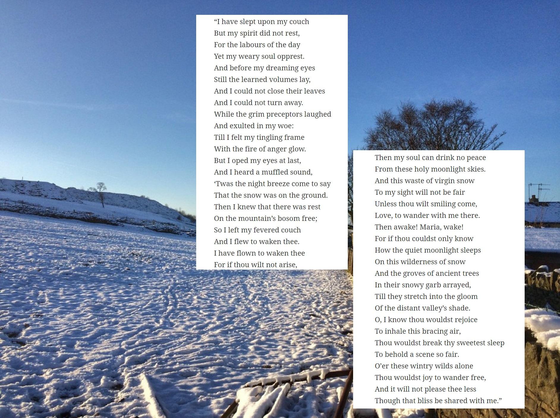The Student's Serenade Anne Bronte