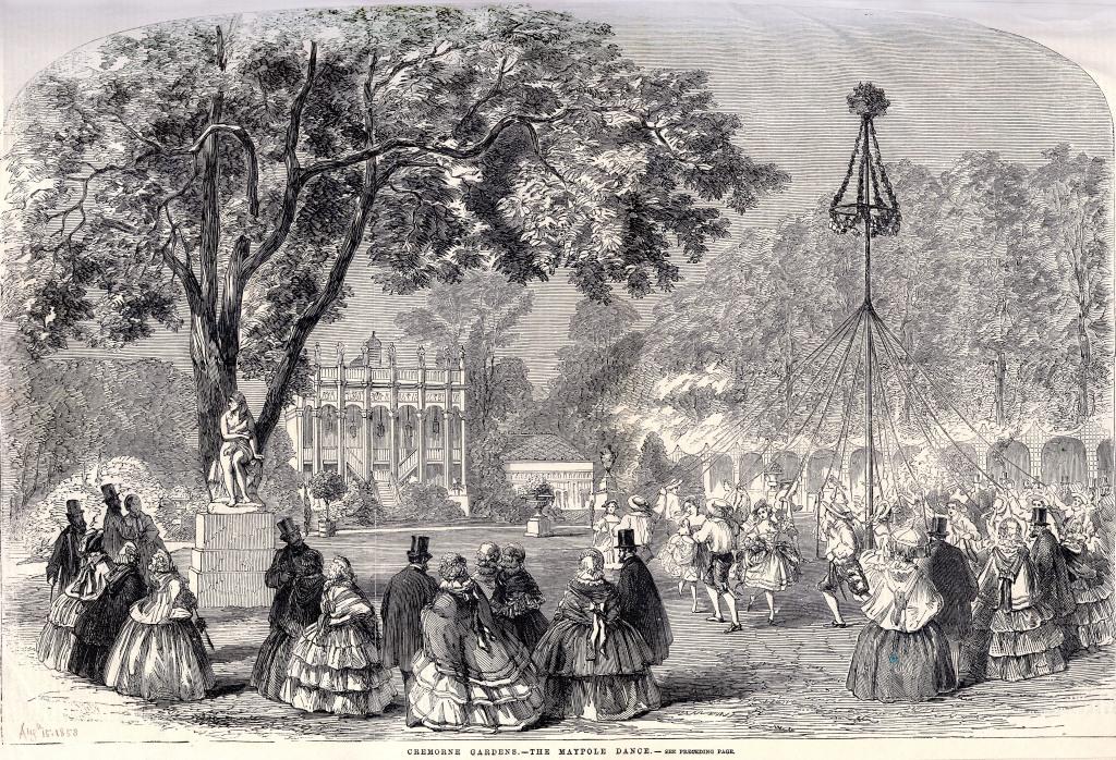 Victorian maypole dancing