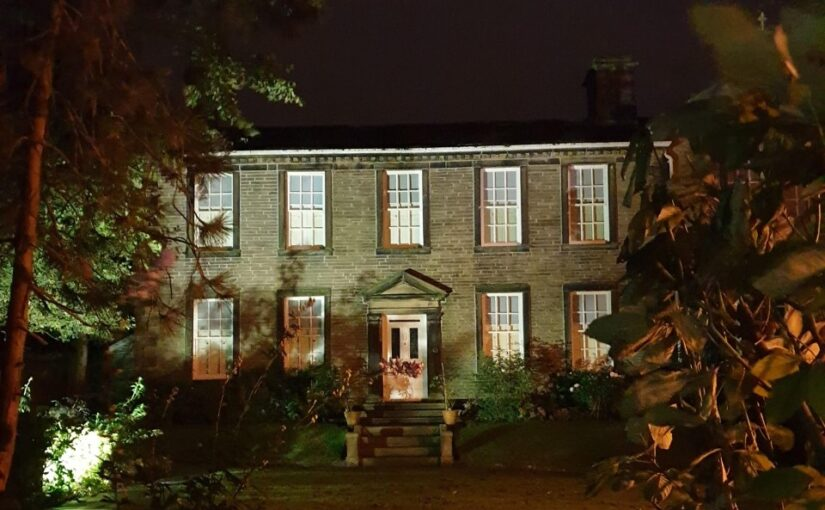 Haworth Parsonage at night