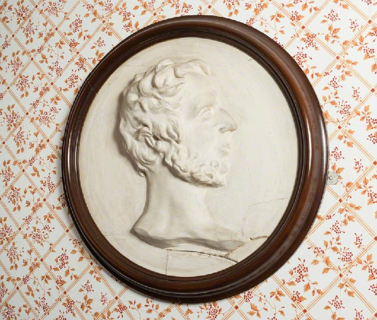 Branwell Bronte medallion by Joseph Leyland