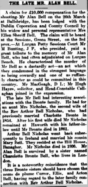 The Late Mr Alan Bell Leinster Reporter 17041920